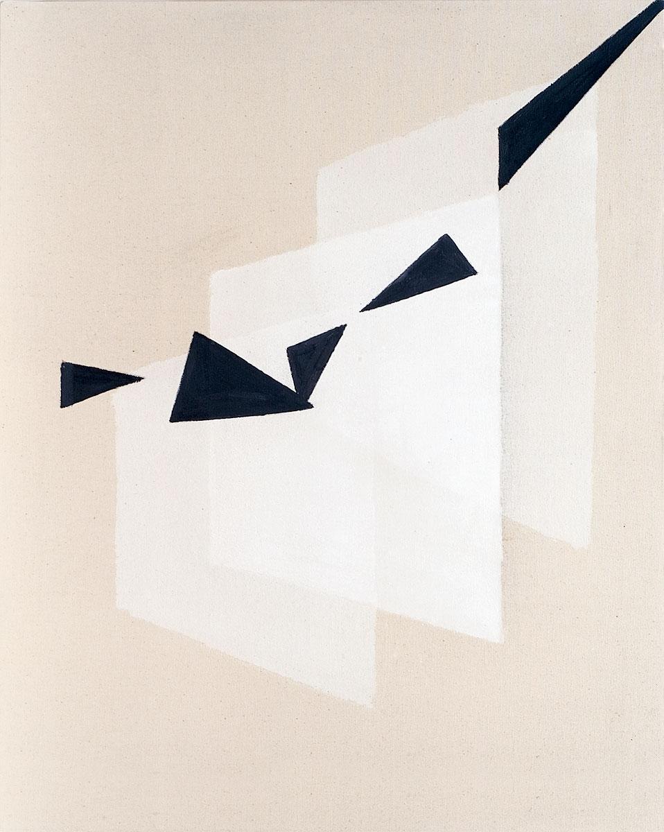 Cuadro 19 (2007) Acrílico y carboncillo sobre tela y caseína.
