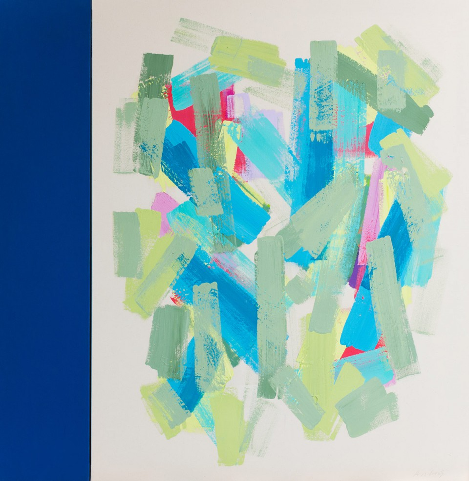 Blue Back Light  (2015)  146x114+27 cm.