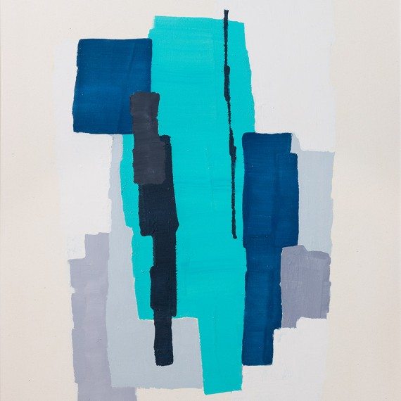 Blue (2015)  116 x 89 cm.