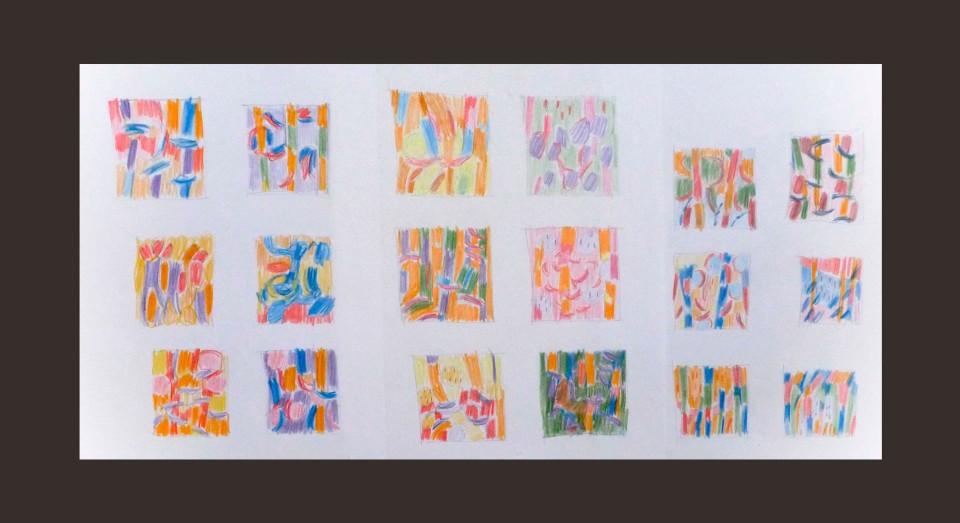 Bocetos (2009) Ceras sobre papel. Serie CERAS