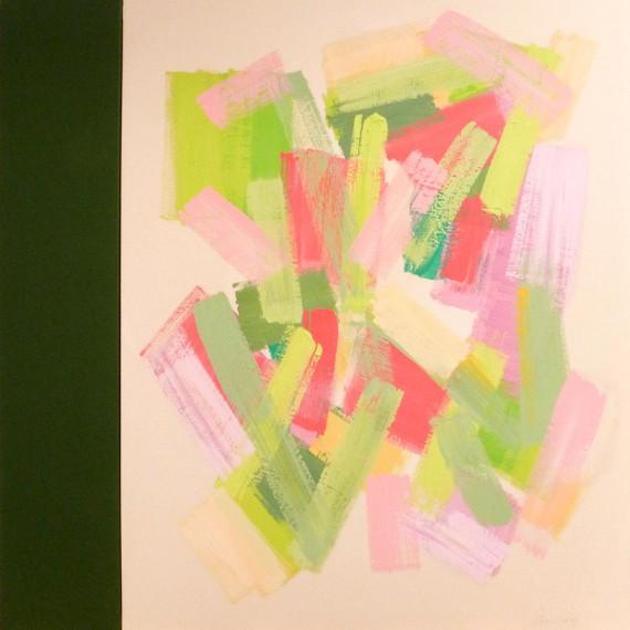 Green Back Light  (2015)  146x114+27 cm.