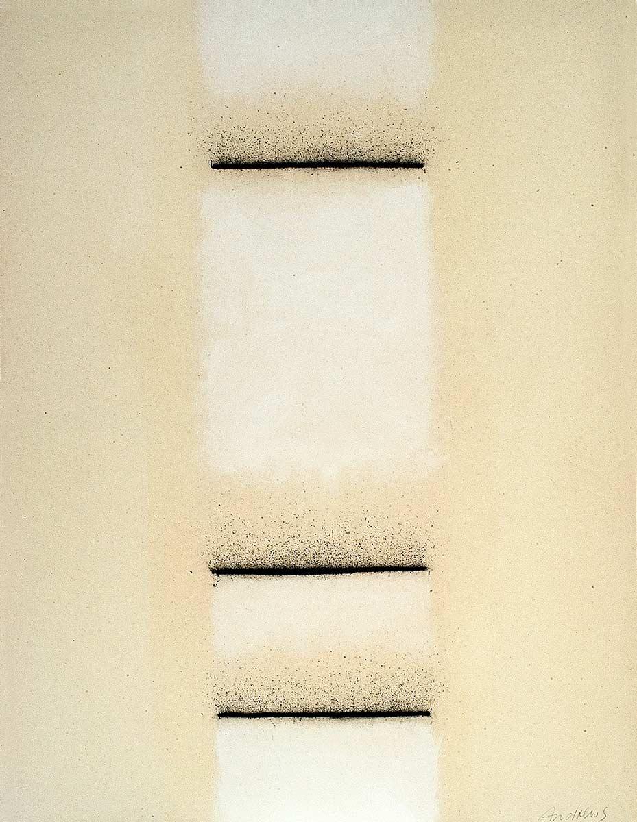Fuentes 3 (2003) 146 x 114 cm. Serie FUENTES  Acrílico y carboncillo sobre tela y caseína.