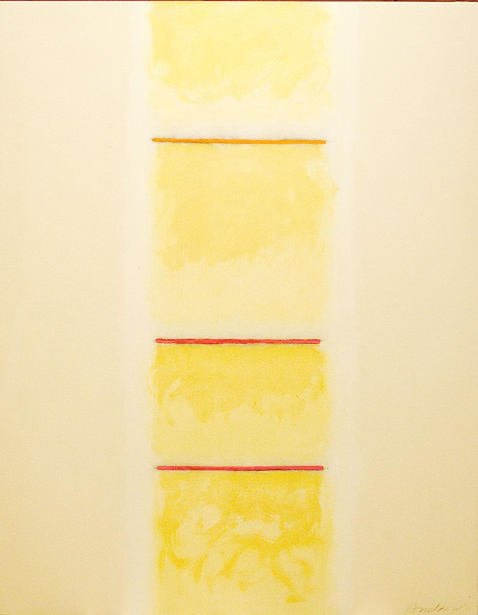 Fuentes 5 (2003) 146 x 114 cm. Serie FUENTES Acrílico sobre tela y caseína.