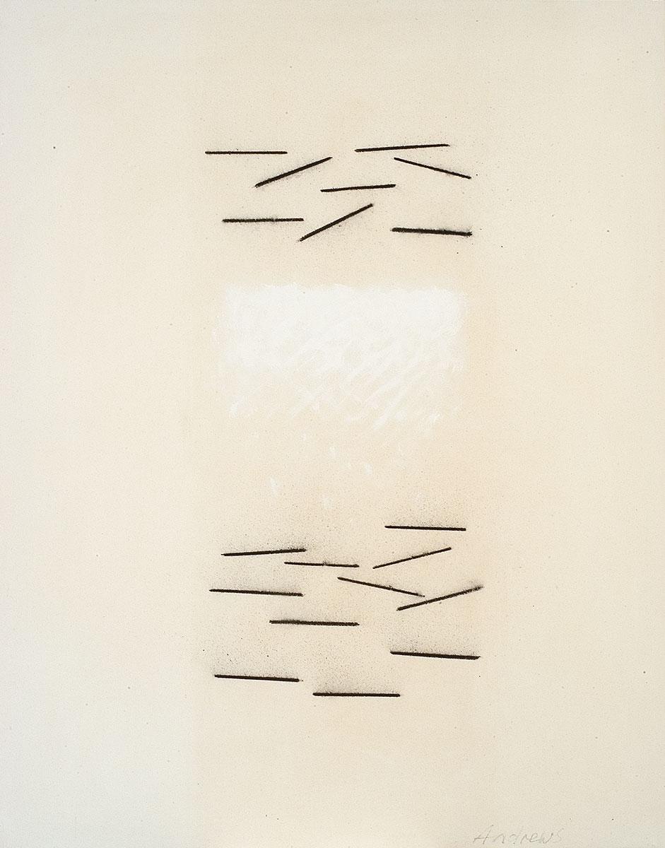 Fuentes 7 (2003)  146 x 114 cm. Serie FUENTES Acrílico y carboncillo sobre tela y caseína.