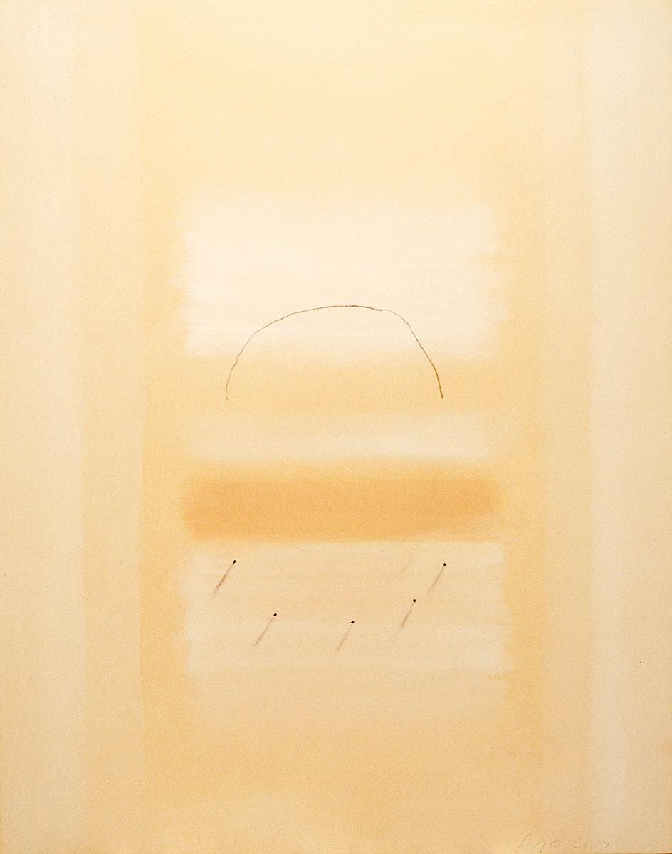 Fuentes 8 (2003)  146 x 114 cm. Serie FUENTES Acrílico y carboncillo sobre tela y caseína.