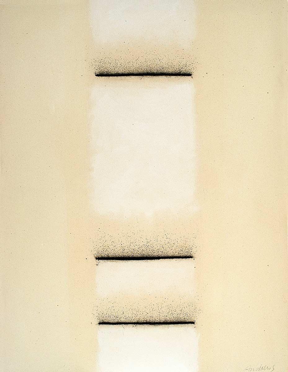 Fuentes 10 (2003)  146 x 114 cm. Serie FUENTES Acrílico y carboncillo sobre tela y caseína.