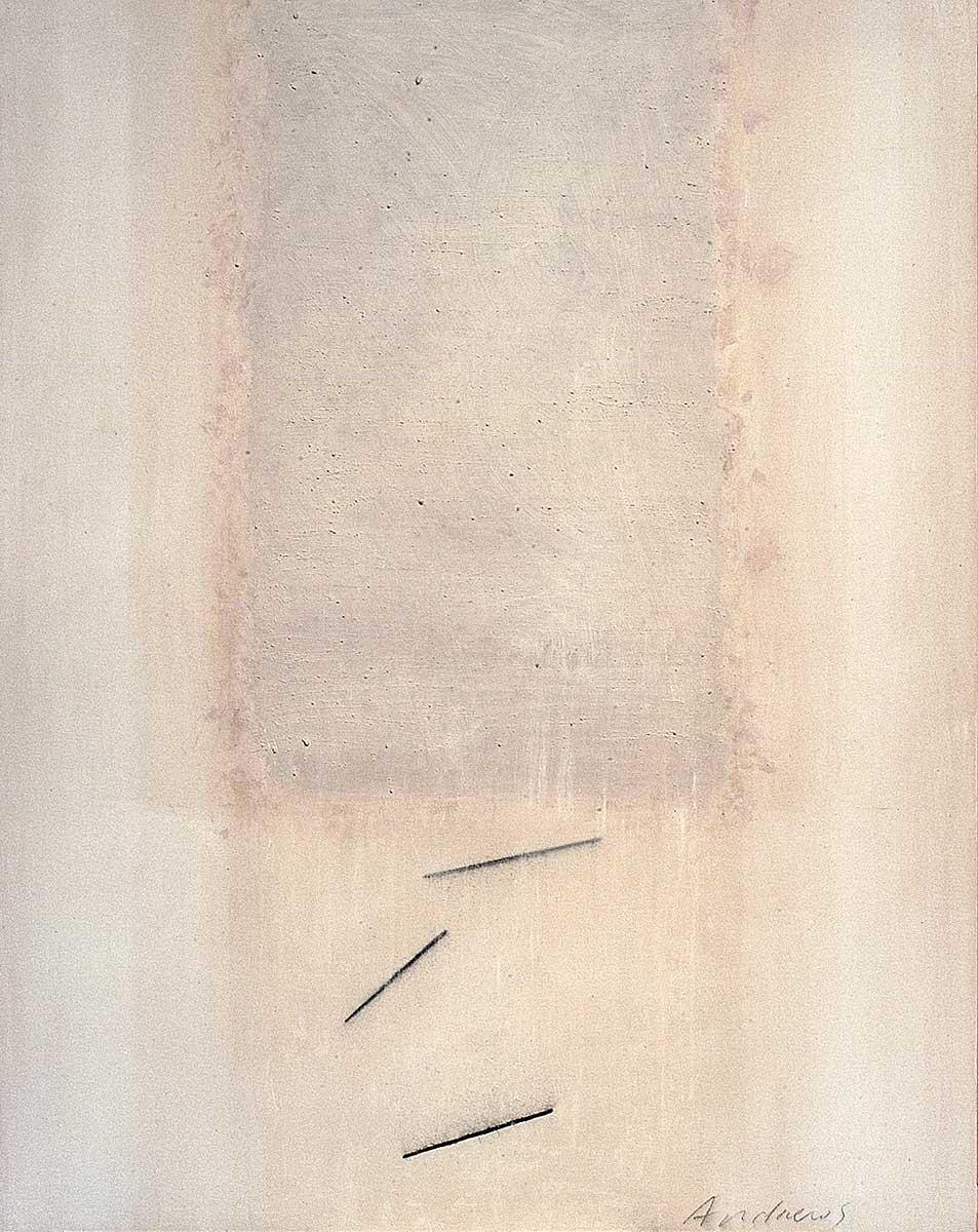 Fuentes 11 (2003)  146 x 114 cm. Serie FUENTES Acrílico y carboncillo sobre tela y caseína.
