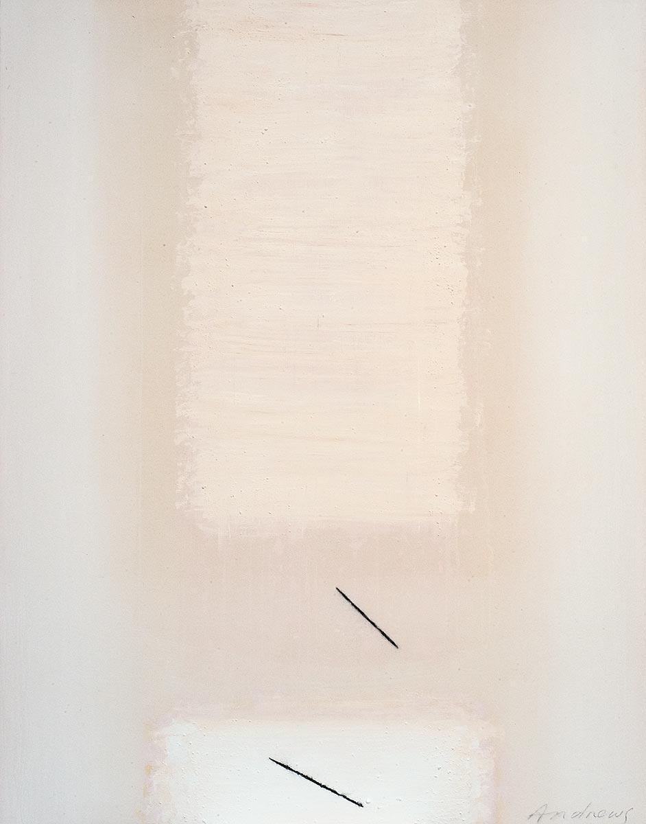 Fuentes 12 (2003)  146 x 114 cm. Serie FUENTES Acrílico y carboncillo sobre tela y caseína.