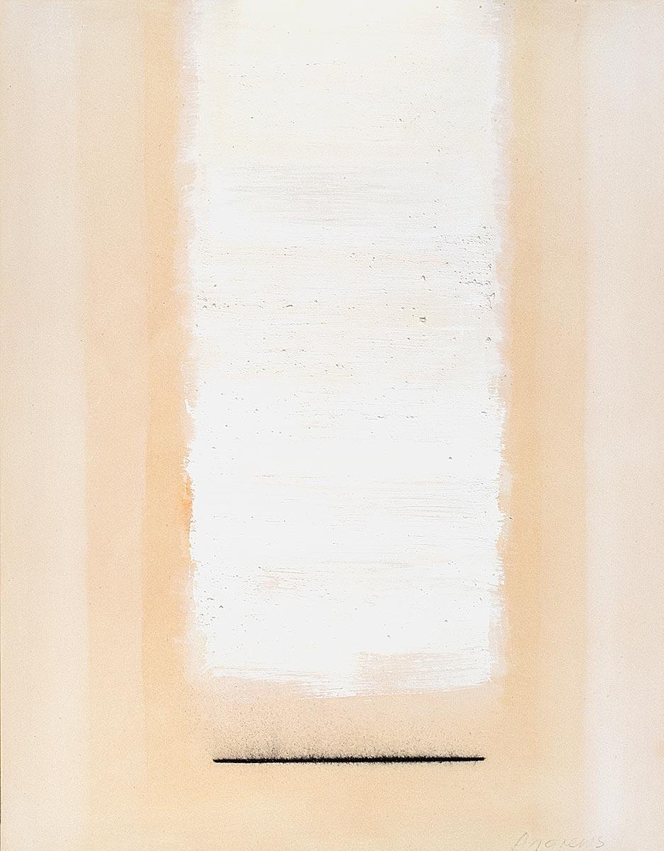 Fuentes 13 (2003)  146 x 114 cm. Serie FUENTES Acrílico y carboncillo sobre tela y caseína.