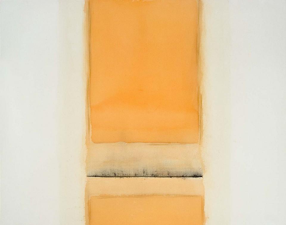 Fuentes 15 (2003)  146 x 114 cm. Serie FUENTES Acrílico y carboncillo sobre tela y caseína.