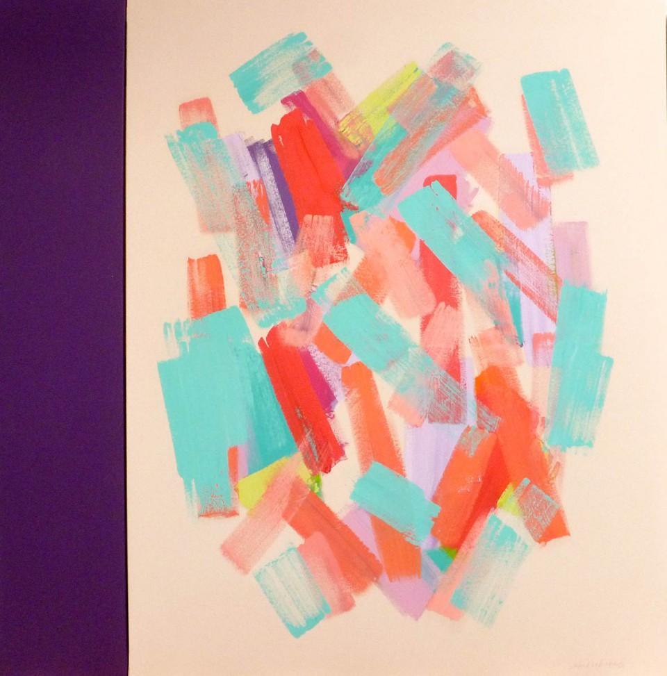 Purple Back Light  (2015)  146x114+27 cm.
