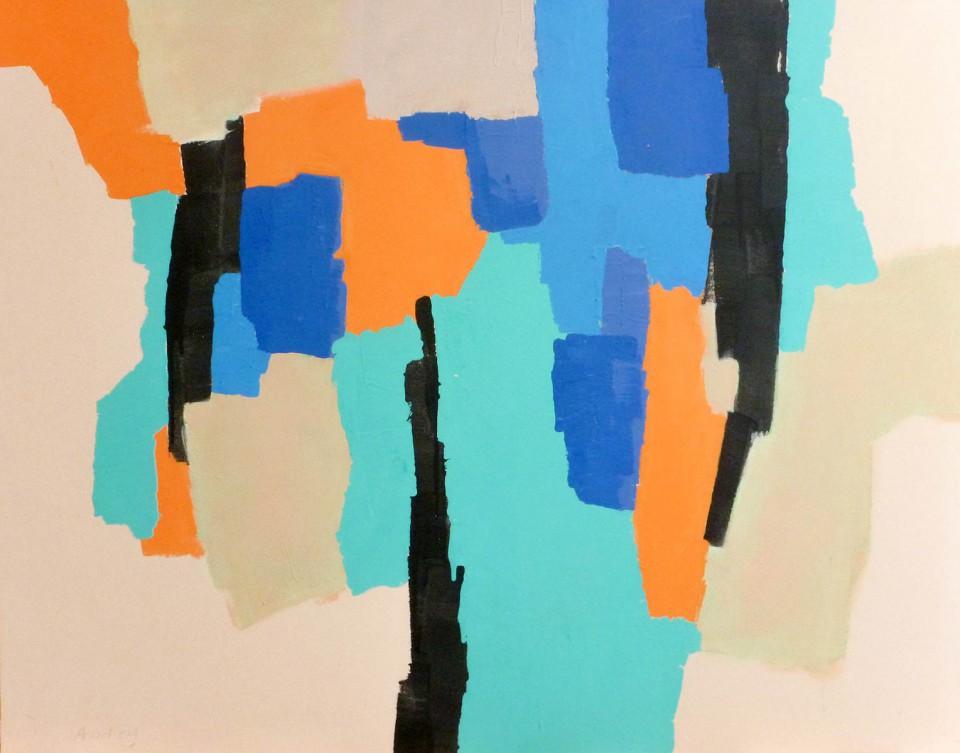 Naranja, azul, cian y negro (2014)
