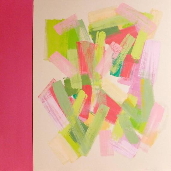 Pink Back Light  (2015)  146x114+27 cm.