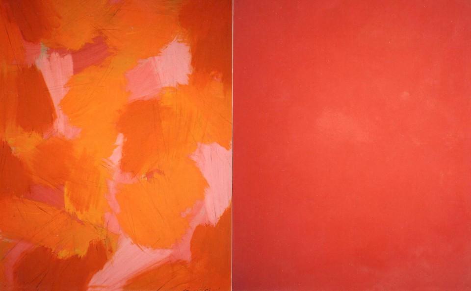 Autumm (2014) 146 x 114 + 114 cm. Serie SEASONS Acrílico sobre tela y caseína