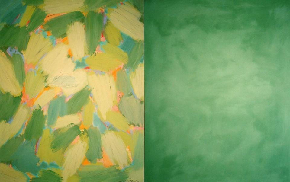 Spring (2004) 146 x 114 + 114 cm.  Serie SEASONS  Acrílico sobre tela y caseína