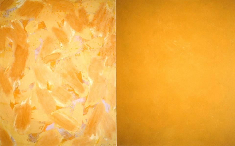 Summer (2014) 146 x 114 + 114 cm. Serie SEASONS Acrílico sobre tela y caseína