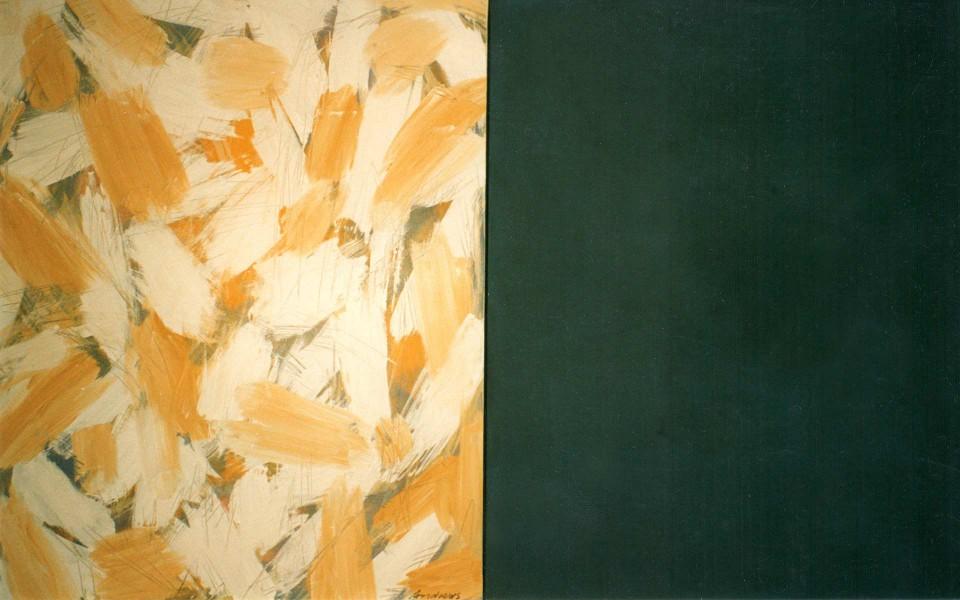 Winter (2004) 146 x 114 + 114 cm. Serie SEASONS Acrílico sobre tela y caseína