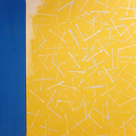 Twigs 3 yellow (2015) 146x114+27 cm