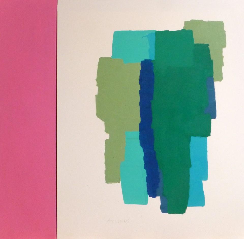 Blue Light (2015)  116x89+27 cm.